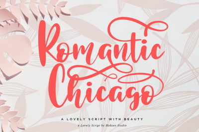Romantic Chicago a Lovely Handwritten Script