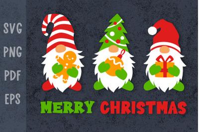 Christmas shirt designs Christmas gnomes svg Xmas svg files