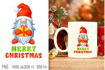 Christmas sublimation designs Christmas gnome png Xmas print png