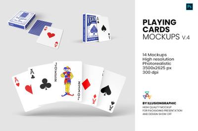 Playing Cards Mockups - v4 - 14 Views