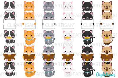 Kittens Clipart Cute Kitty Cats Kitties Pets Graduation