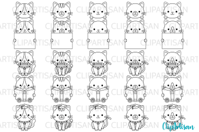 Kittens Clipart Kitty Cat Graduation SVG PNG