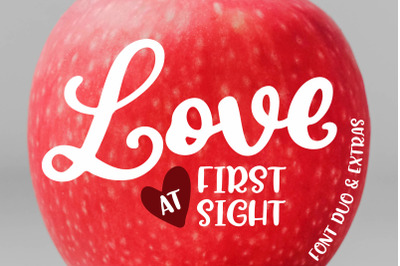 Love At First Sight Font Duo & Extras