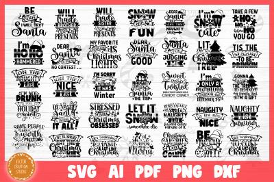 Funny Christmas SVG Bundle Cut Files