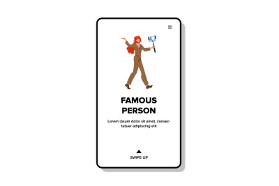 Famous Person Record Life Video On Camera Vector
