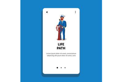 Life Path Man Captain Managing Direction Vector