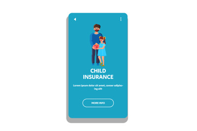 Child Insurance Family Economy Strategy Vector