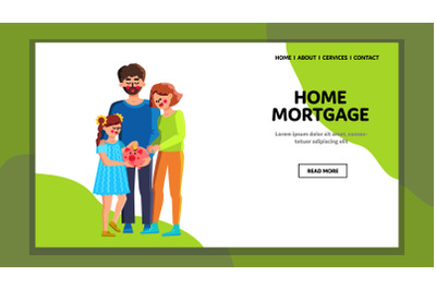Home Mortgage Family Safe Coin In Piggybank Vector