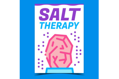 Salt Therapy Creative Promotional Poster Vector