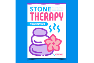 Stone Therapy Creative Promotion Banner Vector