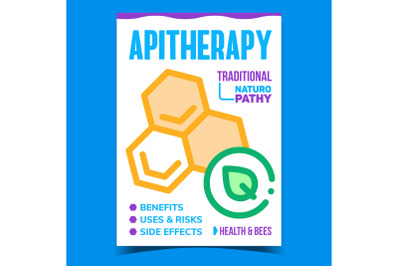 Apitherapy Creative Promotional Poster Vector