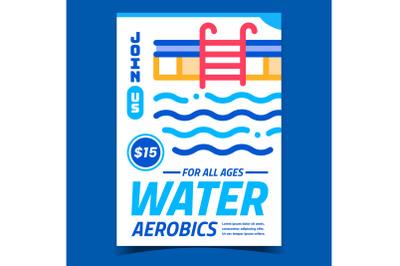 Water Aerobics Creative Promotional Banner Vector