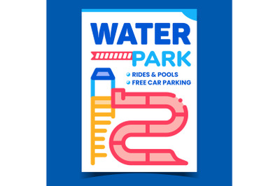 Water Park Creative Promotional Banner Vector
