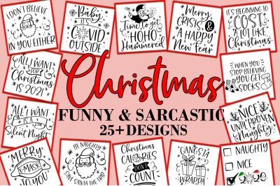 Christmas Funny And Sarcastic Bundle SVG Design Bundle