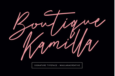 Boutique Kamilla Signature Typeface