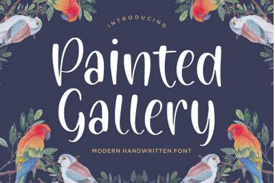 Painted Gallery Modern Handwritten Font