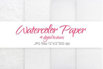 Watercolor paper Digital texture Set Watercolor paper background
