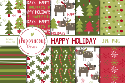 Happy Holiday paper set