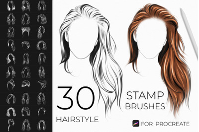 Hairstyle Stamps Brushes Procreate