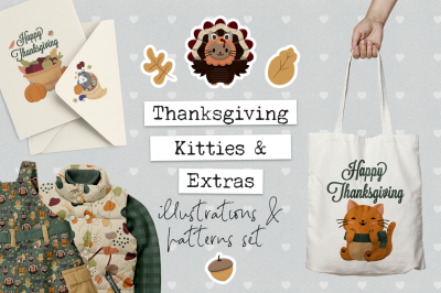 Thanksgiving Illustrations and Patterns