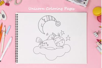 Unicorn Coloring Pages PDF14