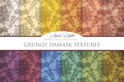Grunge Damask Textures