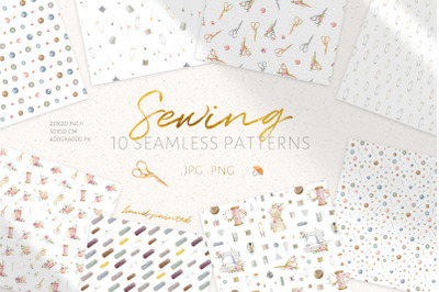 Sewing Seamless Patterns - Digital Paper