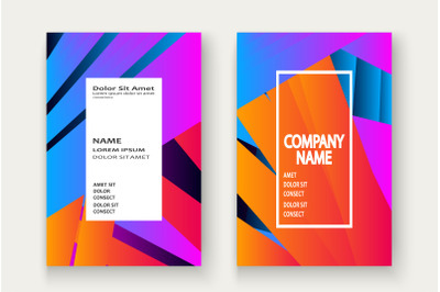 Minimal cover set design vector illustration.Neon blurred orange  blue
