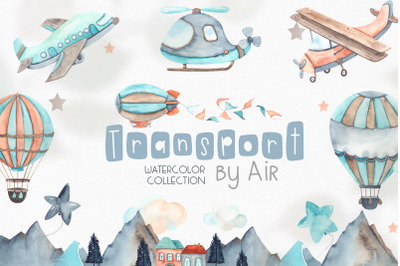 Watercolor Transport by air