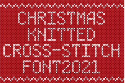 Christmas Knitted Cross-Stitch Font v1.0
