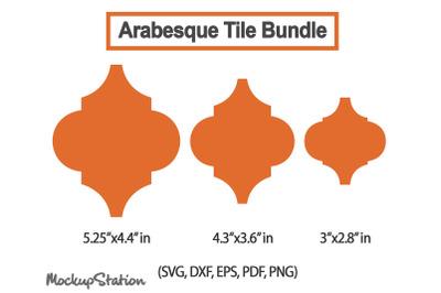 Arabesque Tile SVG Bundle, Christmas Ornament Template Laser Dxf