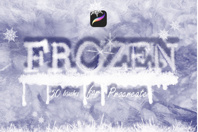 Frozen Brushes for Procreate