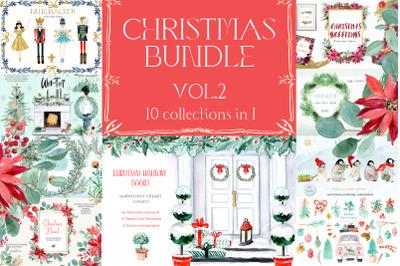 Christmas Watercolor Bundle vol. 2