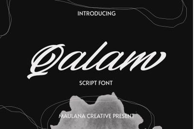 Qalam Script Font
