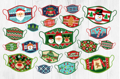 Ugly Sweater Masks, Christmas Face Masks, Sweater Masks