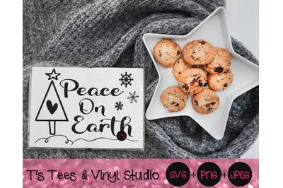 Peace On Earth Svg, Christmas Wish, Christmas Tree, Snowflakes, Snowfl