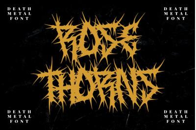 ROSE THORNS - Death Metal Band Font