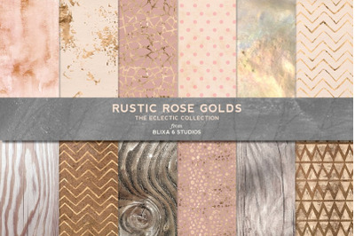 Rustic Rose Gold Textures and Patterns