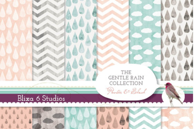 Gentle Rain Collection of Watercolor Patterns