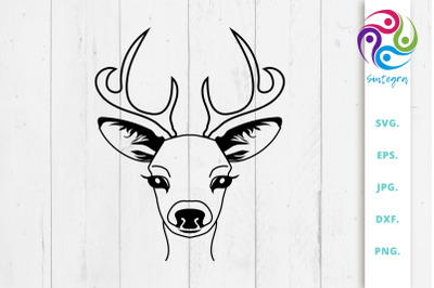 Gorgeous Antlers Deer SVG File