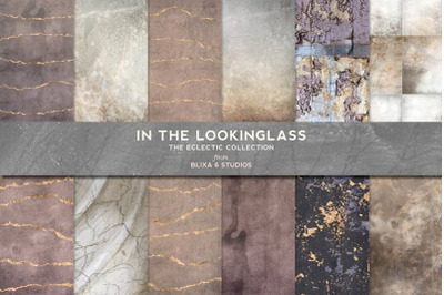 In the Looking Glass Gold & Distressed Textures