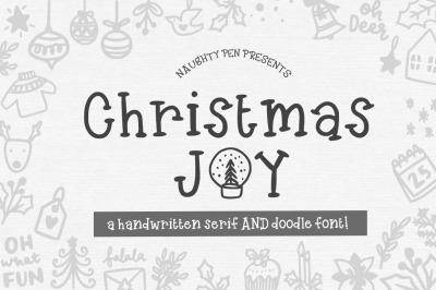 Christmas Joy - Handwritten Serif and Doodle Font