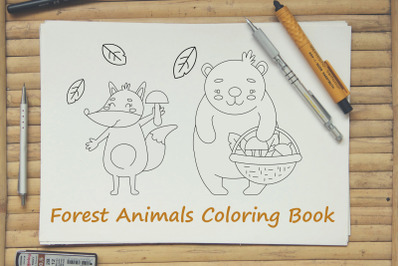 Forest Animals Coloring Book PDF 15