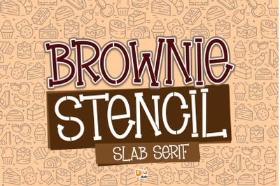 Brownie Stencil - Slab Serif Stencil Font