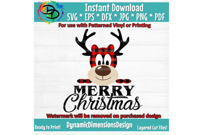 Christmas SVG, Buffalo Plaid Moose SVG, Moose Svg, Buffalo Plaid SVG, Christmas Clip Art, Merry Christmas, Svg, Eps, Png, Jpeg, Cut Files
