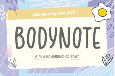 BODYNOTE Fun Handbrushed Font