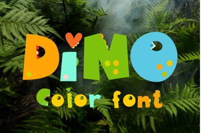 Dinosaurs Color Font OpenType-SVG