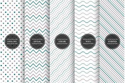 Color minimalistic geometric prints