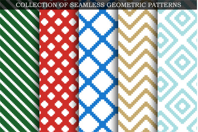 Colorful seamless textile patterns