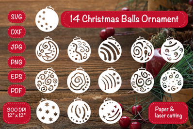 Christmas Balls Ornament. Christmas Bundle. Christmas ornament